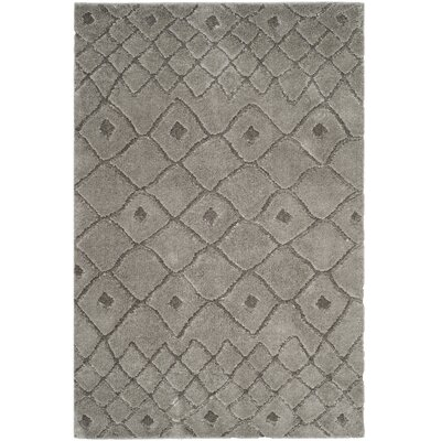 Atisha Gray Area Rug Rug Size: Rectangle 4 x 6