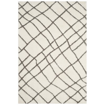 Isair Ivory Area Rug Rug Size: Rectangle 8 x 10