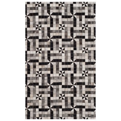 Patricio Contemporary Leather Hand Tufted Gray Area Rug Rug Size: Rectangle 3 x 5