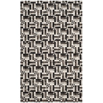 Patricio Contemporary Leather Hand Tufted Gray Area Rug Rug Size: Rectangle 5 x 8