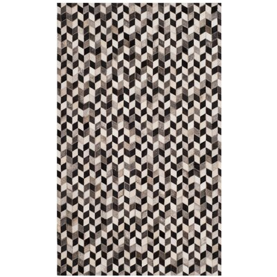 Patricio Leather Hand Tufted Gray Area Rug Rug Size: Rectangle 3 x 5