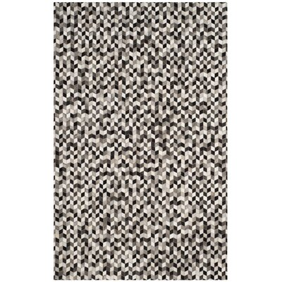 Patricio Leather Hand Tufted Gray Area Rug Rug Size: Rectangle 5 x 8