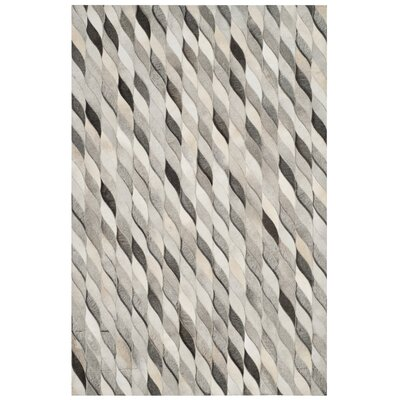 Patricio Leather Hand Tufted Ivory Area Rug Rug Size: Rectangle 4 x 6
