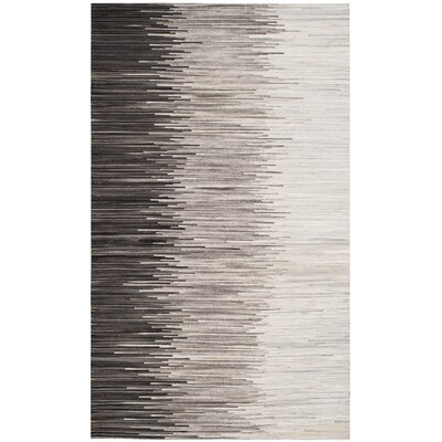 Patricio Leather Hand Tufted Charcoal Area Rug Rug Size: Rectangle 5 x 8