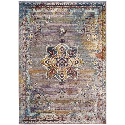Mcintosh Boho Blue/Purple Area Rug� Rug Size: Square 7