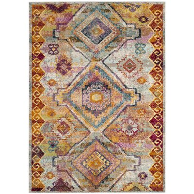 Mcintosh Yellow Area Rug� Rug Size: Round 7