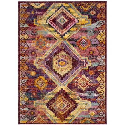 Mcintosh Boho Yellow/Pink Area Rug� Rug Size: Rectangle 4 x 6