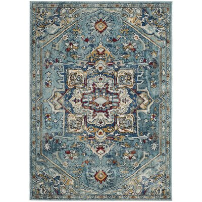 Mcintosh Boho Blue Area Rug� Rug Size: Rectangle 51 x 76