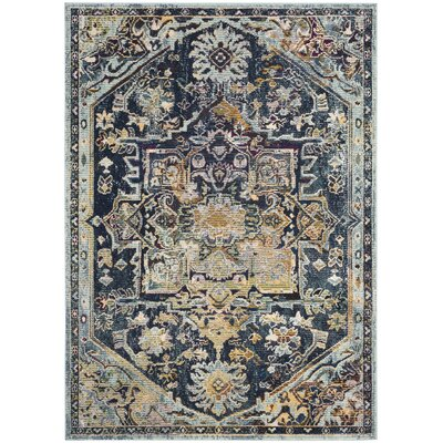 Mcintosh Boho Navy Area Rug� Rug Size: Rectangle 4 x 6
