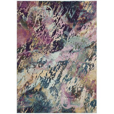 Mcintosh Contemporary Blue/Purple Area Rug� Rug Size: Rectangle 4 x 6