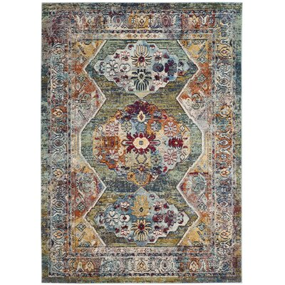 Mcintosh Green Area Rug� Rug Size: Rectangle 51 x 76