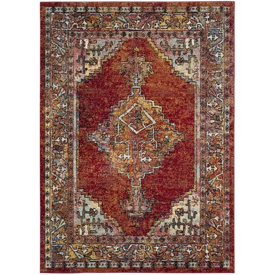 Mcintosh Red Area Rug� Rug Size: Rectangle 51 x 76