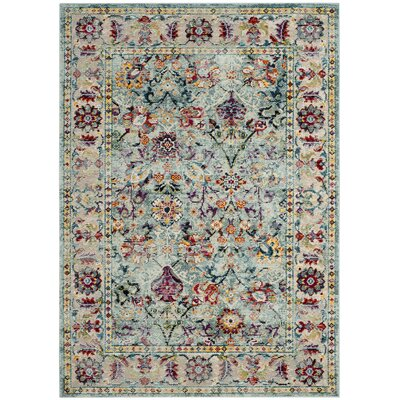 Mcintosh Blue Area Rug� Rug Size: Rectangle 51 x 76