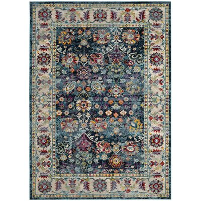 Mcintosh Navy Area Rug� Rug Size: Rectangle 51 x 76