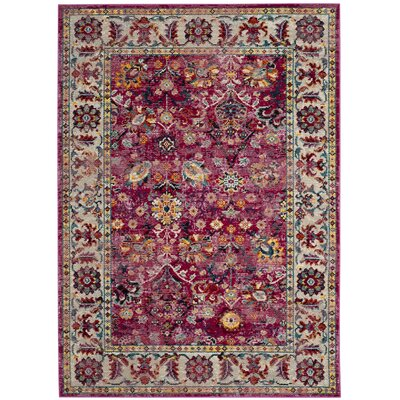 Mcintosh Violet Area Rug� Rug Size: Rectangle 51 x 76