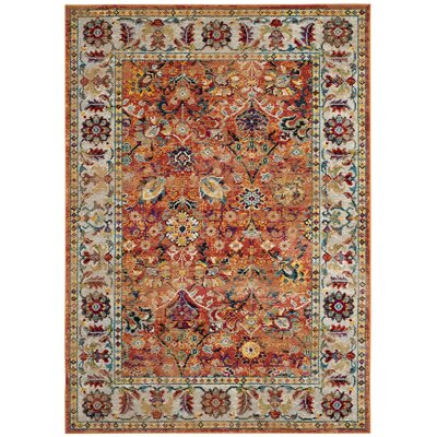 Mcintosh Orange Area Rug� Rug Size: Rectangle 51 x 76