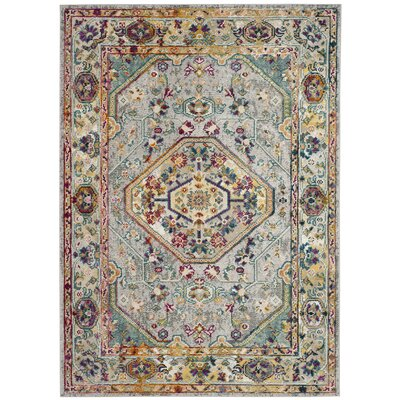 Mcintosh Gray Area Rug� Rug Size: Rectangle 8 x 10