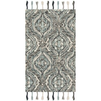 Niederanven Hand Knotted Wool Gray Area Rug Rug Size: Rectangle 5 x 8