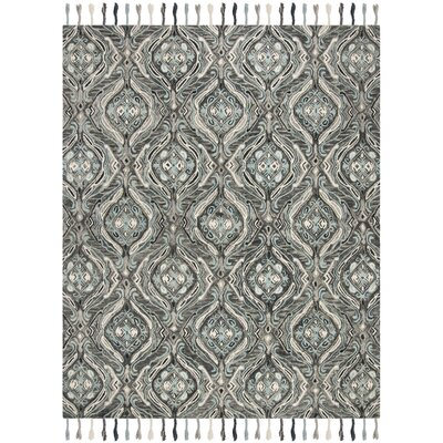 Niederanven Hand Knotted Wool Gray Area Rug Rug Size: Rectangle 8 x 10