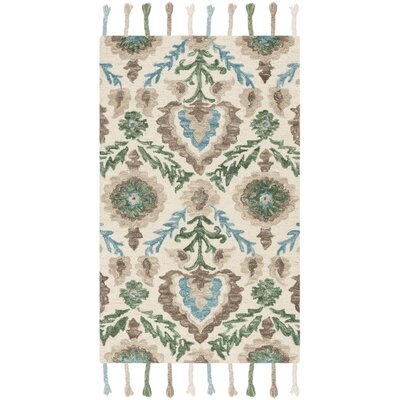 Niederanven Hand Knotted Wool Brown/Green Area Rug Rug Size: Runner 23 x 8