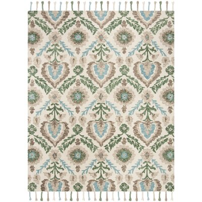 Niederanven Hand Knotted Wool Brown/Green Area Rug Rug Size: Rectangle 8 x 10