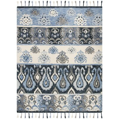 Niederanven Hand Knotted Wool Blue Area Rug Rug Size: Rectangle 8 x 10