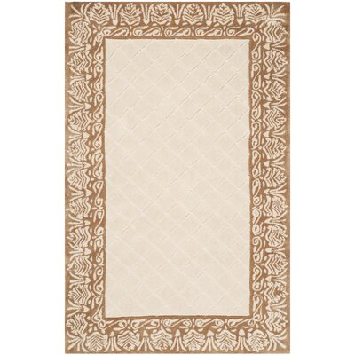 Caine Hand Tufted Ivory Area Rug Rug Size: Rectangle 3 x 5
