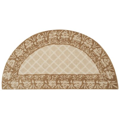 Caine Hand Tufted Ivory Area Rug Rug Size: Semi Circle 2 x 4