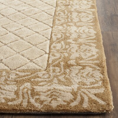 Caine Hand Tufted Ivory Area Rug Rug Size: Rectangle 4 x 6
