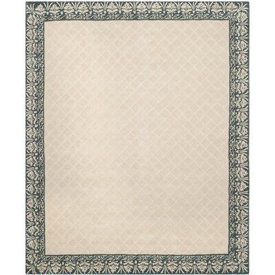 Caine Hand Tufted Ivory/Green Area Rug Rug Size: Rectangle 8 x 10