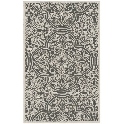 Dansk Hand Tufted Wool Dark Gray Area Rug Rug Size: Rectangle 3 x 5