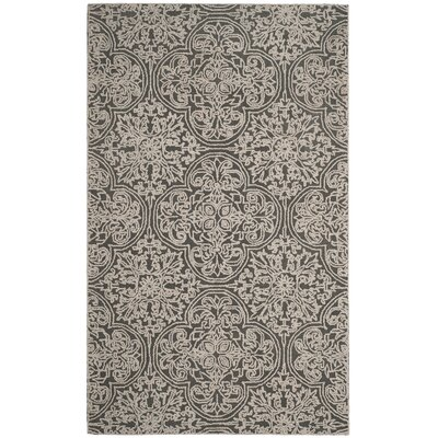 Marys Hand Tufted Wool Dark Gray Area Rug Rug Size: Rectangle 5 x 8