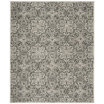 Marys Hand Tufted Wool Dark Gray Area Rug Rug Size: Rectangle 8 x 10