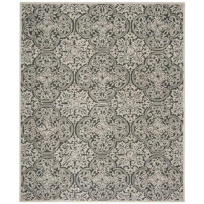Dansk Hand Tufted Wool Dark Gray Area Rug Rug Size: Rectangle 8 x 10