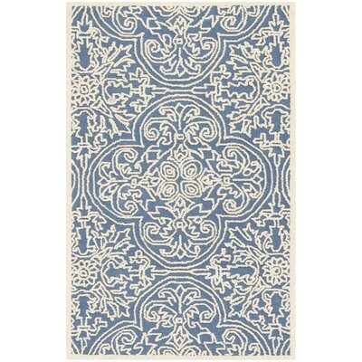 Marys Rustic Hand Tufted Wool Blue Area Rug Rug Size: Rectangle 3 x 5