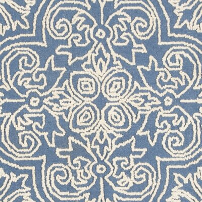 Marys Rustic Hand Tufted Wool Blue Area Rug Rug Size: Rectangle 5 x 8