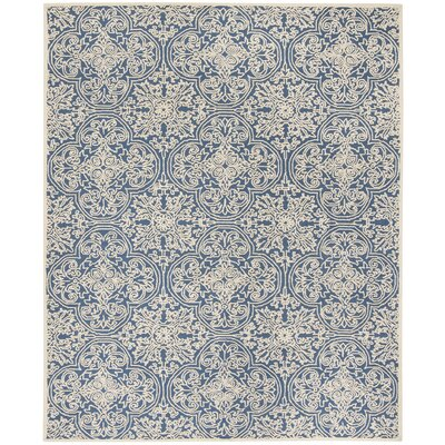 Marys Rustic Hand Tufted Wool Blue Area Rug Rug Size: Rectangle 8 x 10