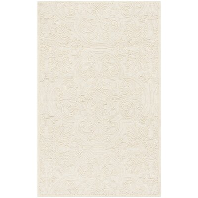 Dansk Rustic Hand Tufted Wool Ivory Area Rug Rug Size: Rectangle 3 x 5