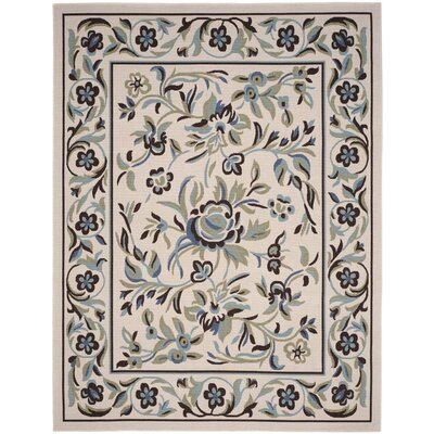 Calandre Cream/Blue Area Rug Rug Size: Rectangle 8 x 10