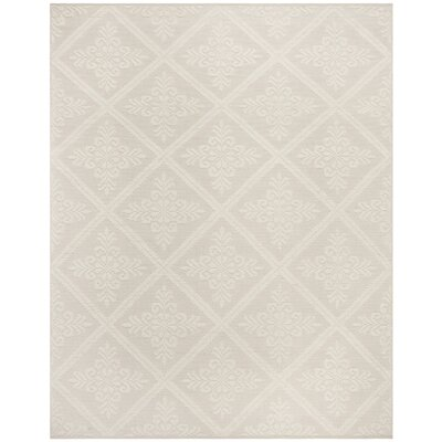 Audrick Hand Tufted Cotton Ivory Area Rug Rug Size: Rectangle 9' x 12'