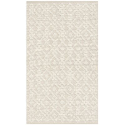 Audrick Hand Tufted Wool Ivory Area Rug Rug Size: Rectangle 4 x 6