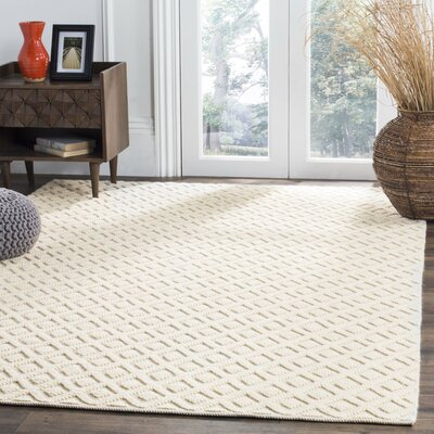 Xamiera Hand Tufted Wool And Cotton Ivory Area Rug Rug Size: Rectangle 3 x 5