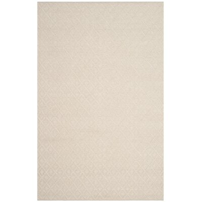 Xamiera Hand Tufted Wool And Cotton Ivory Area Rug Rug Size: Rectangle 5 x 8