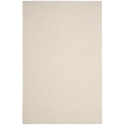 Xamiera Hand Tufted Wool And Cotton Ivory Geometric Area Rug Rug Size: Rectangle 5 x 8