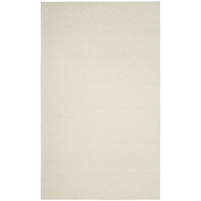 Xamiera Hand Tufted Wool Ivory Geometric Area Rug Rug Size: Rectangle 3 x 5