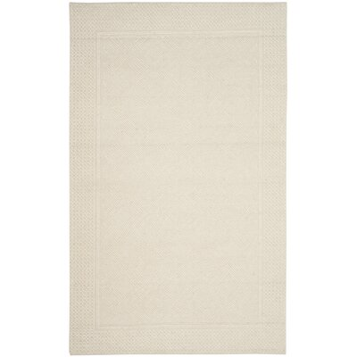 Xamiera Hand Tufted Wool Ivory Area Rug Rug Size: Rectangle 4 x 6
