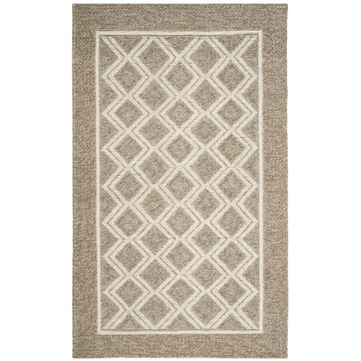 Xamiera Hand Tufted Wool Beige Area Rug Rug Size: Rectangle 3 x 5