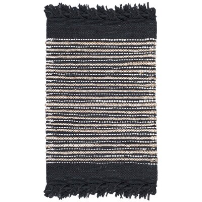Glostrup Hand Tufted Black Area Rug Rug Size: Square 6