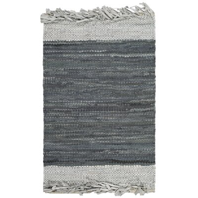 Glostrup Hand Knotted Light Gray Area Rug Rug Size: Square 6