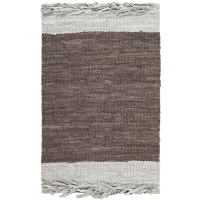 Glostrup Contemporary Hand Hooked Brown Area Rug Rug Size: Rectangle 6 x 9